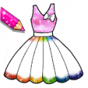 Glitter Dresses Coloring Book - Drawing pages APK Download