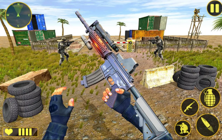Welcome to Real Shooting Gun Strike: Counter Terrorist Free Shooting Game with Commando Shooting Game and FPS Shooting Strike. If you are ready to explore the new world of fps gun strike with commando games and new counter terrorist games. You can play a lot of FPS games in genre for counter-terrorism attack but it will bring you into the era of fully future fps war where you are fighting terrorists in real fps shooting games as the best fps shooter in grand fps shooting games. The question is, are you ready to enjoy some serious commando shooting? In this game you have to deal with terrorists in the modern FPS shooting game, capturing scenes of real FPS commandos. Not just counter-terrorists by enemy drones. Can you manage counter-terrorist attacks by monsters trained by counter-terrorists? Destroying these monsters is nothing short of a real challenge for fps gun shooters - if you complete the whole fps secret mission with the help of free shooting games fps commando, you will have the skill to do gun strike free shooting game critique action to save the last man in this city.  You are a trained special forces commando and you are equipped with modern weapons. Your goal in this game is to destroy enemy camps to save your country from terrorism. What are you ready Be the best shooter in every environment! The fight is real and you can be the hero. If you are the person who play fps shooting games and is full of resistance missions in terrorist shooting games. You go with this counter shooting strike! Be part of this critical strike as the last fps shooter hero to have the idea of ​​counter terrorist games in these new gun games. The era of real FPS shooting games of FPS Commando Secret Mission. In this FPS shooting games of 2020 you will face all the terrorists as specially trained army commandos. We present real commando secret missions for all FPS game lovers respectfully. Fps Commando Shooting Game Addictive gameplay and modern combat weapons  Real shooting gun strike commando shooting games and modern fps shooting game counter terrorist fps shooting. The new FPS shooting strike in the counter-terrorist arena is the latest addition to the FPS gun strike and commando games. This fps commando counter terrorist game is a wonderful combination of fps games and real fps shooting games that showcase counter terrorist combat in a futuristic manner with multiple enemies. Unlike other gun shooting games, this Critical Strike Counter Attack will give you the fun of a drone shooting game perfectly with terrorist shooting games. So, enjoy the experience of shooting many of the gun strike games in one place! This is great for all those looking for free shooting games in the era of FPS shooting games. Make your leisure time interesting. You are a commando soldier of the fps secret mission, you must eliminate all terrorists. Free shooting games include shotguns, knives, grenades, fry-pan pistols and assault rifles in all action games.  Original shooting gun strike: Counter-attack: - Features 1- Great gameplay for military covert missions 2- Weapons: guns, pistols, snipers, automatic rifles, shotguns, grenades! 3- Use grenades to destroy armored vehicles 4- Follow the map to find the targets 5- Perfect optimization even for weak devices! 6- Addictive FPS game play off action games 7- Interactive and action-packed environment