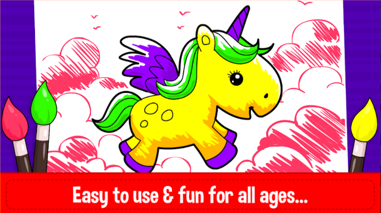 Unicorn Coloring Book & Baby Games for Girls APK Dwonload