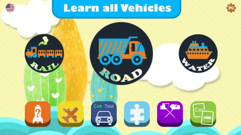 """The """"Vehicles for Kids - Flashcards, Sounds, Puzzles"""" is free app for learning Cars, Trucks, and other Vehicles. App's features include below :  ** Learn about cars, trucks, ...: App contains 60 the popular transportation with flashcards (pictures), names, sounds or horns. ** Quiz in the end of lesson. ** 6 practice games for kids: + Wood puzzle game. + Matching the name car (truck, helicopter, airplane, ...) game. + Guessing name vehicles from a flashcard. + Quiz the picture car (truck, helicopter, airplane, ...) game. + Puzzle sliding game. + Connecting the transportation images.  The app is suitable for the preschool, toddlers and kids to learning about the names of Vehicle spellings, sounds of vehicle, pronunciations of vehicle...  - Privacy disclosure: We do take the privacy very seriously, and we are confirming that this app, + Does not contain any links to social networks + Does not collect and distribute any personal information + Does not contain any sensitive information not suitable for children  - Disclaimer : This app has some of the graphics work used that one are taken from public domain. Maximum care has been taken to avoid any copyright infringements. If anyone happens to have any concerns, issues, or queries, please reach us at brilliantkidsstudio@gmail.com.  - Feedback us : We are open to any feedback and suggestion which adds value to the kids' learning, and improve this app further. Please reach us at brilliantkidsstudio@gmail.com. We are highly committed to act on your feedback and happy to incorporate any valuable suggestions you provide. This app will go under regular updates with more additional features, and any feedback we receive from you. Hope you will have great time with the app. Thanks for your support."""