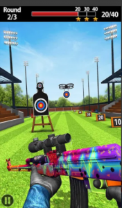 Do you want to play long range shooting games 2020? If so, this shooting game is for you, where you can set goals and become a shooting legend. This Shooting Range Target Practice Target game is designed to start and practice some target skills in multiple waves on still running targets. You've played a lot of fun shooter games, but it's time to test your shooting experience by playing this circle shooting game. To win the amazing shooter game you need to draw the target with the eyes of a bull. Continue practicing mania shots to improve your gun shooting skills. Join the shoot competition and take on all the incredible challenges. The shooting action of the gun is a shot target training game which is a popular shooter battle of 2020. There are various guns and modern shooting weapons for competitive shoot war games. To make this game even more challenging, we've added limited time in multiplayer mode to keep you active and finish shooting waves over time. Target Shooter with a range of guns is one of the top trending board games this season, so what are you waiting for, download and play the most exciting free target shooting games. Features of Target Shooting Legend 2020 Game: - It can be played for free and offline - Compete for 1 to 1 against one player - Easy one touch shooting fun - Intense shooting game 3D - To complete lots of missions - Use different gun weapons for shooting - Amazing sound effects - Beautiful 3D environment - Addictive and involved FPS shooting gameplay