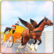 Flying Horse Buggy Taxi Driving Transport Game APK Download