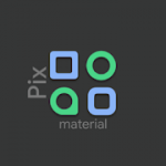 Patched Pix Material Dark Icon Pack V1 APK