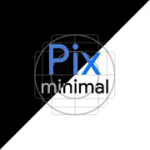 Pics Minimal Black Patched White Icon Pack V 5.0 APK